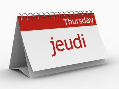 jeudi - thursday-jeudi